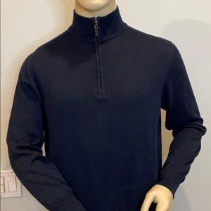 Robert Talbott Men's 1/4 Zip Pullover Sweater (L)